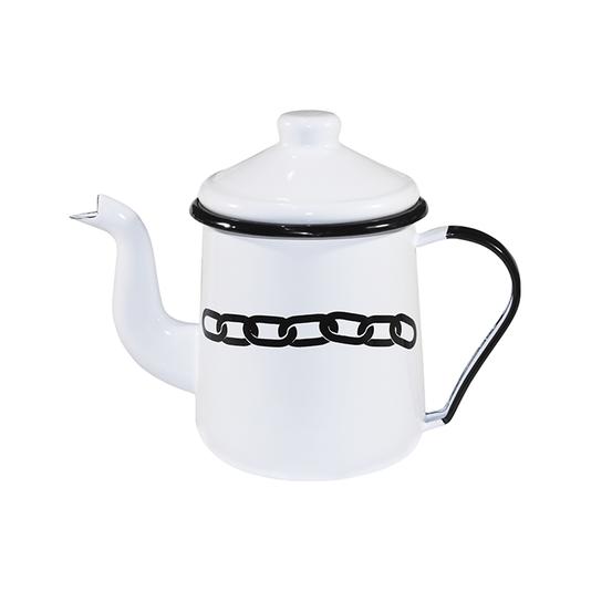 Cafeteira Esmaltada Tradicional - nº 12 - Branca Corrente - 1100 ml (À LA GARÇONNE + EWEL)