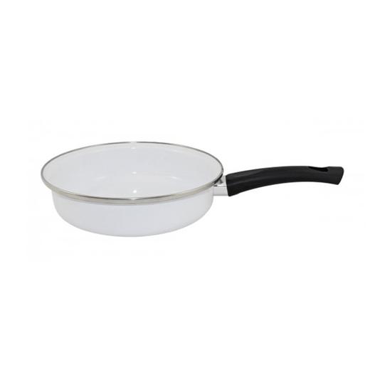 Frigideira Esmaltada - nº 22 - Branca - 1500 ml (EWEL)