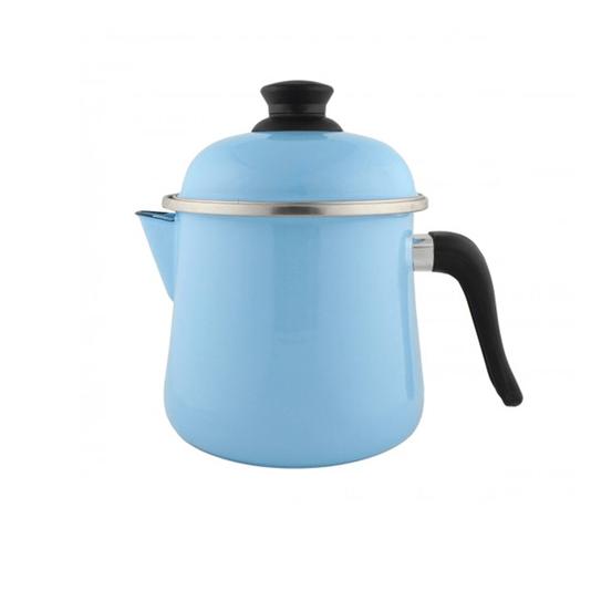 Leiteira Esmaltada Bojuda - nº 16 - Azul Claro - 2000 ml (EWEL)