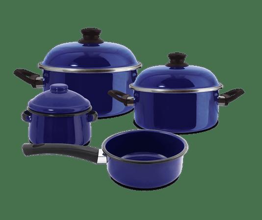 Jogo de Panelas Ewel 4 Peças - Azul