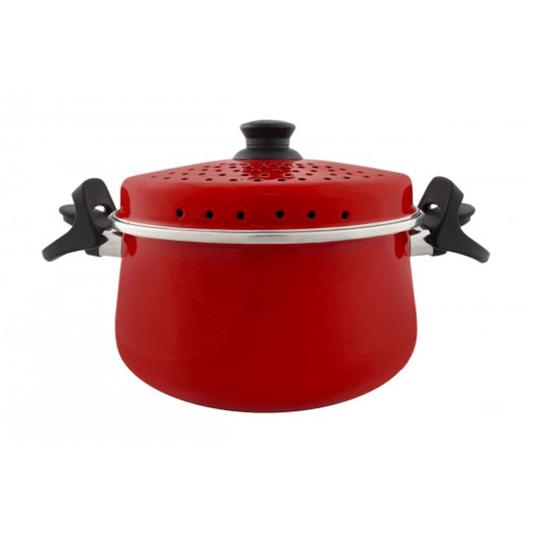 Espagueteira Esmaltada - Bojuda - nº 24 - Vermelha - 4600 ml (EWEL)