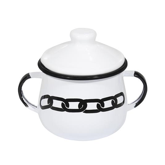 Açucareiro Esmaltado - n° 8 - Branco Corrente - 380 ml (À LA GARÇONNE + EWEL)