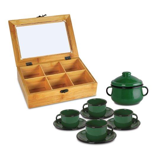 Conjunto para Chás - 10 Peças - Verde