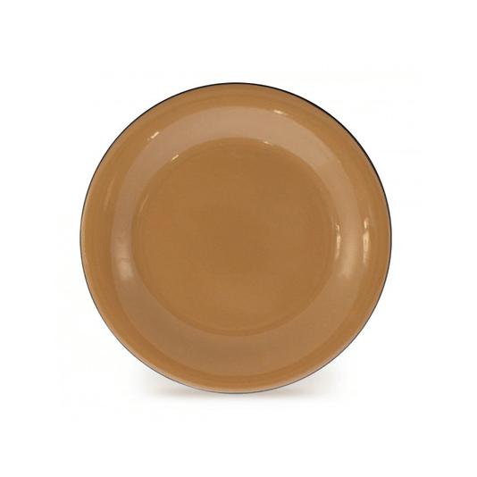 Prato Esmaltado para sobremesa - nº 20 - Marrom - 250 ml (EWEL)