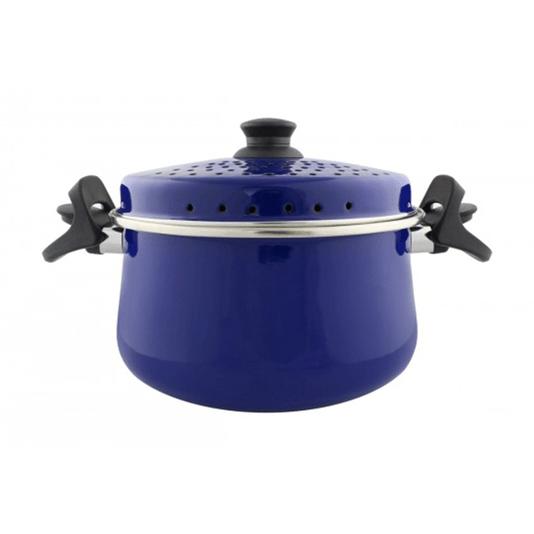 Espagueteira Esmaltada - Bojuda - nº 24 - Azul - 4600 ml (EWEL)