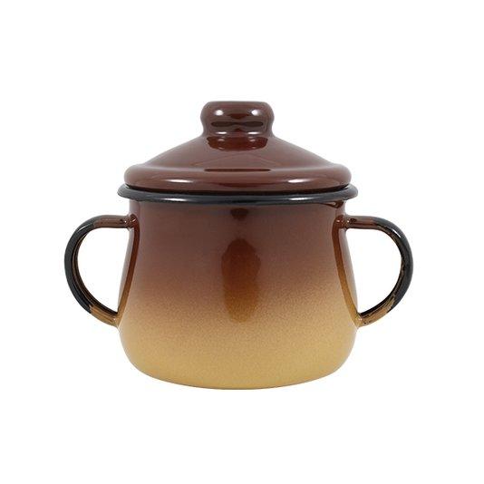 Açucareiro Esmaltado - n°8 - Marrom - 380 ml (Ewel)