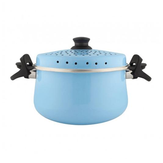 Espagueteira Esmaltada - Bojuda - nº 24 - Azul Claro- 4600 ml (EWEL)