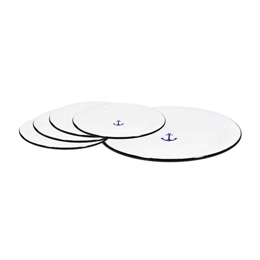 Conjunto de Sobremesa – 5 pçs – Branco Âncora (À LA GARÇONNE + EWEL)