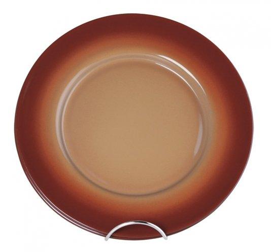 Conjunto de Sous-Plat Esmaltado - 04 pçs – Marrom – Ø32cm - 500 ml (EWEL)