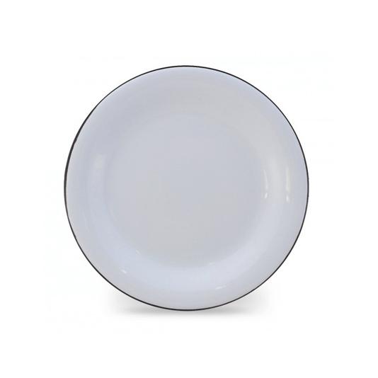 Prato Esmaltado para sobremesa - nº 20 - Branco - 250ml (EWEL)