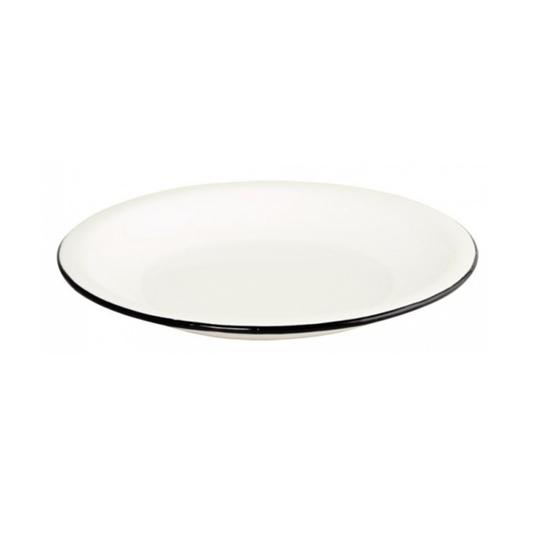 Prato Esmaltado Raso - nº 26 - Branco - 700 ml (EWEL)