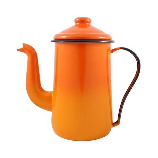 Bule para Café Esmaltado Tradicional - nº 14 - Laranja - 1500 ml (EWEL)