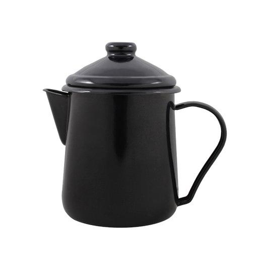 Leiteira Esmaltada Tradicional - nº 12 - Preta - 1000 ml (EWEL)