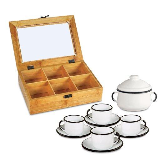 Conjunto para Chás - 10 Peças - Branco