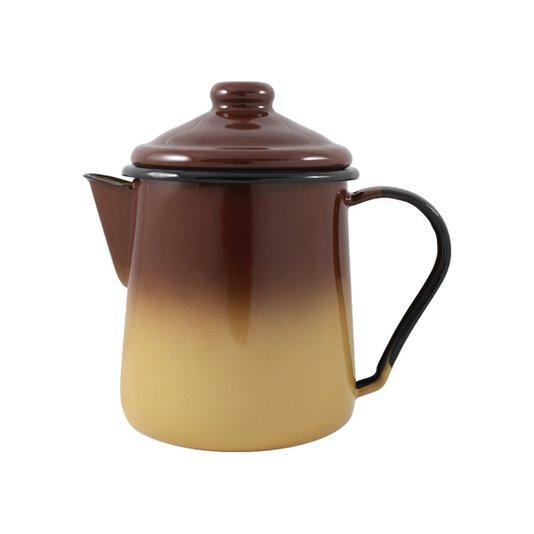 Leiteira Esmaltada Tradicional - nº 12 - Marrom - 1000 ml (EWEL)