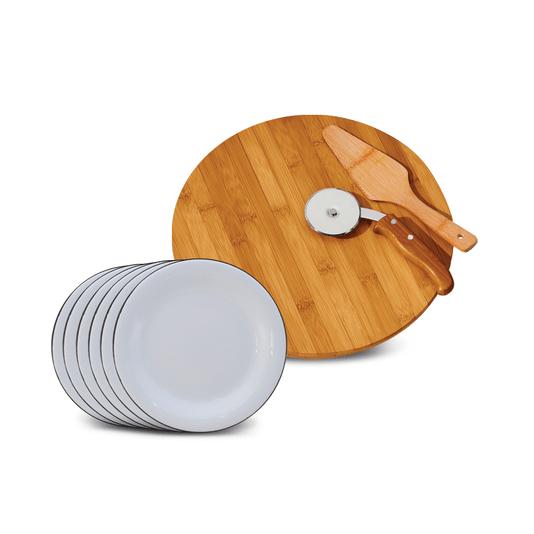 Conjunto para Pizza - 9 Peças - Branco