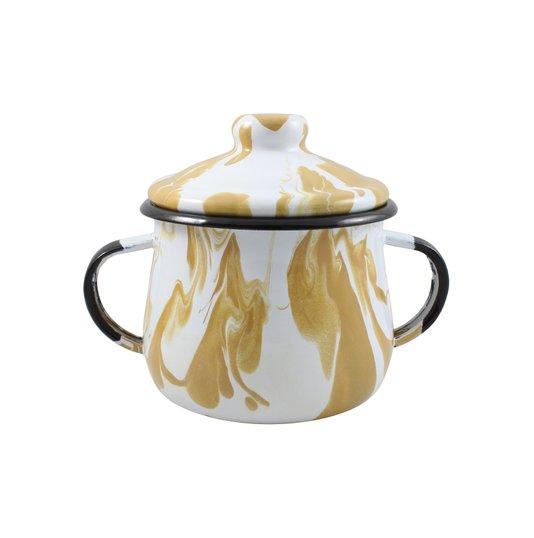 Açucareiro Esmaltado - n°8 - Marrom - 380 ml (Ewel Coleção Marmorizada)