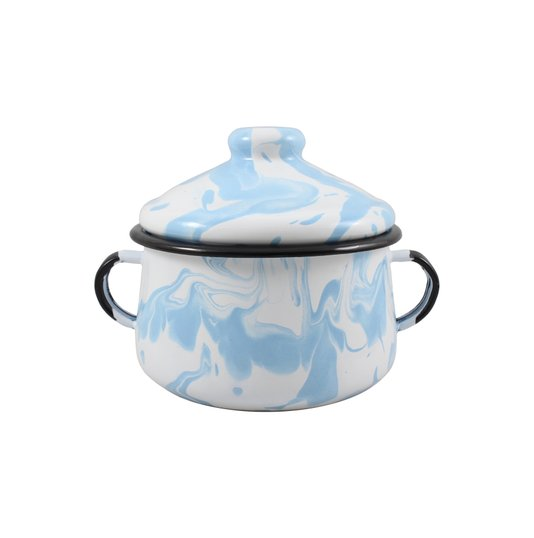 Açucareiro Esmaltado - nº 10 - Azul Claro - 500 ml (EWEL Coleção Marmorizada)