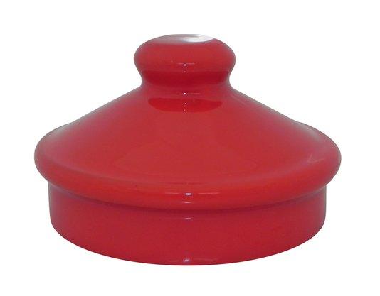 Tampa com Pomel Esmaltado - Vermelho