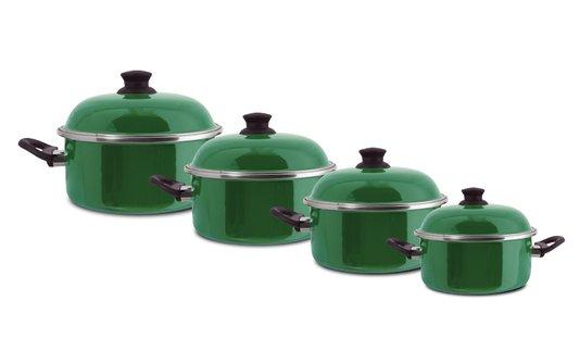 Jogo de Panelas Linha Ewel 4 peças - Verde