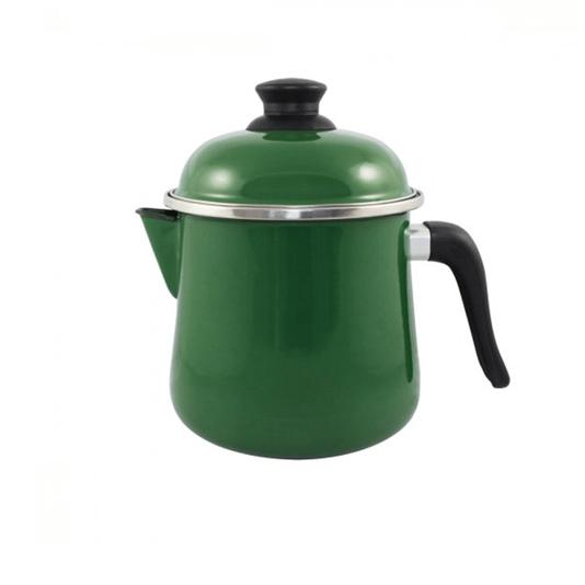 Leiteira Esmaltada Bojuda - nº 16 - Verde - 2000 ml (EWEL)