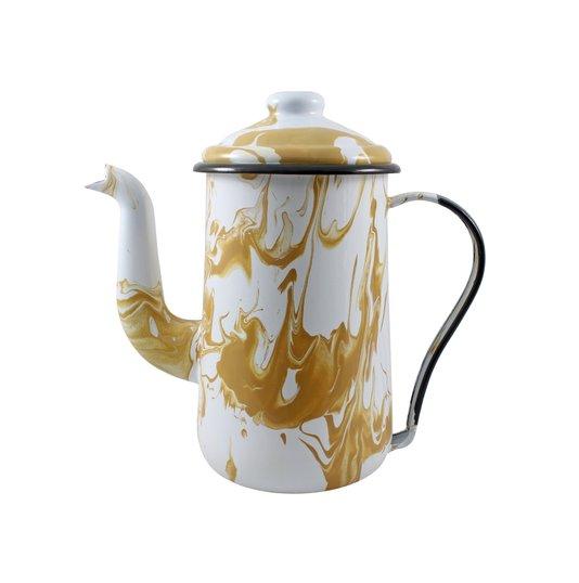 Bule para Café Esmaltado Tradicional - nº 14 - Marrom - 1500 ml (EWEL Coleção Marmorizada)