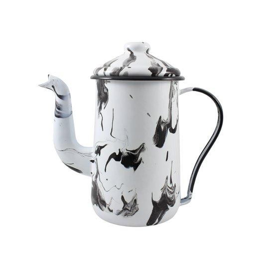 Bule para Café Esmaltado Tradicional - nº 14 - Preto - 1500 ml (EWEL Coleção Marmorizada)