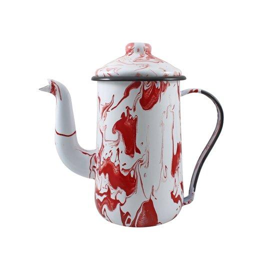 Bule para Café Esmaltado Tradicional - nº 14 - Vermelho - 1500 ml (EWEL Coleção Marmorizada)