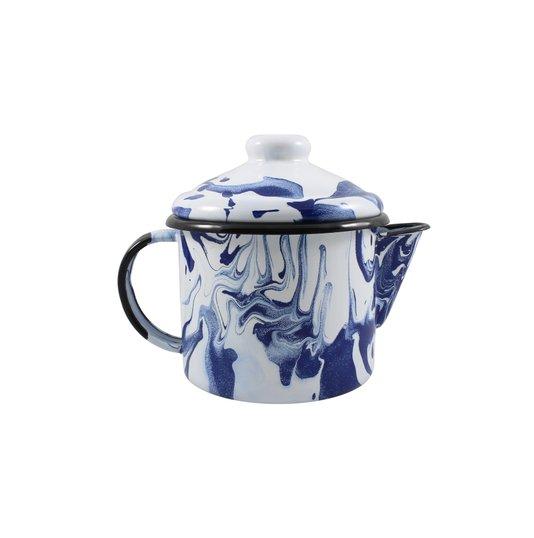 Bule para Chá Esmaltado - nº 10 - Azul - 600 ml (EWEL Coleção Marmorizada)