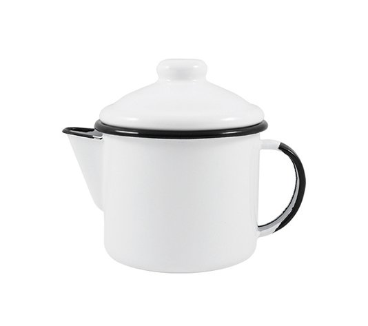 Bule para Chá Esmaltado - nº 10 - Branco - 600 ml (EWEL)