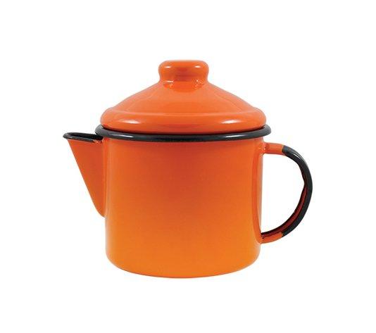 Bule para Chá Esmaltado - nº 10 - Laranja - 600 ml (EWEL)