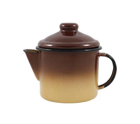 Bule para Chá Esmaltado - nº 10 - Marrom - 600 ml (EWEL)