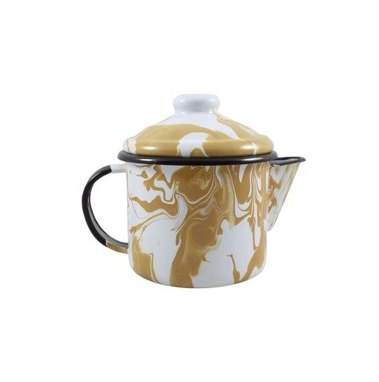 Bule para Chá Esmaltado - nº 10 - Marrom - 600 ml (EWEL Coleção Marmorizada)