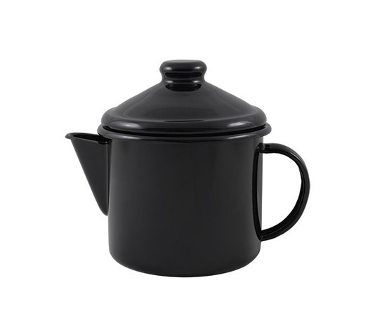 Bule para Chá Esmaltado - nº 10 - Preto - 600 ml (EWEL)