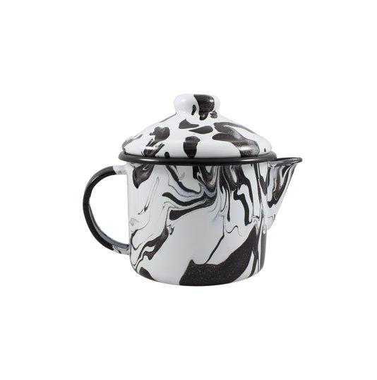Bule para Chá Esmaltado - nº 10 - Preto - 600 ml (EWEL Coleção Marmorizada)
