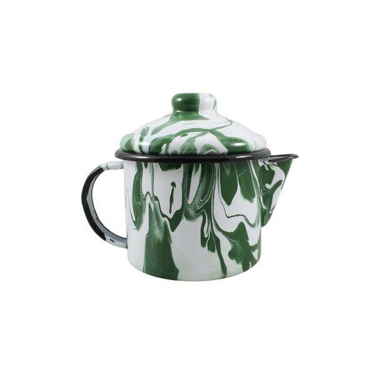 Bule para Chá Esmaltado - nº 10 - Verde - 600 ml (EWEL Coleção Marmorizada)