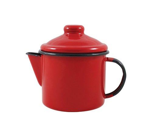 Bule para Chá Esmaltado - nº 10 - Vermelho - 600 ml (EWEL)