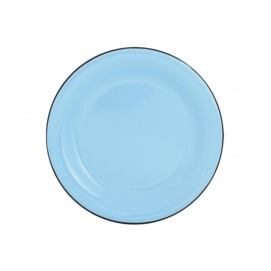 Prato Esmaltado para sobremesa - nº 20 - Azul Claro - 250 ml (EWEL)
