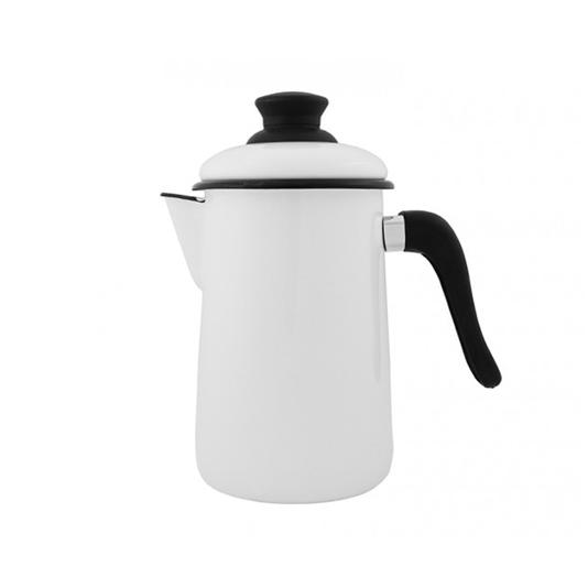 Bule para Café Esmaltado - nº 14 - Branco - 1500 ml (EWEL)