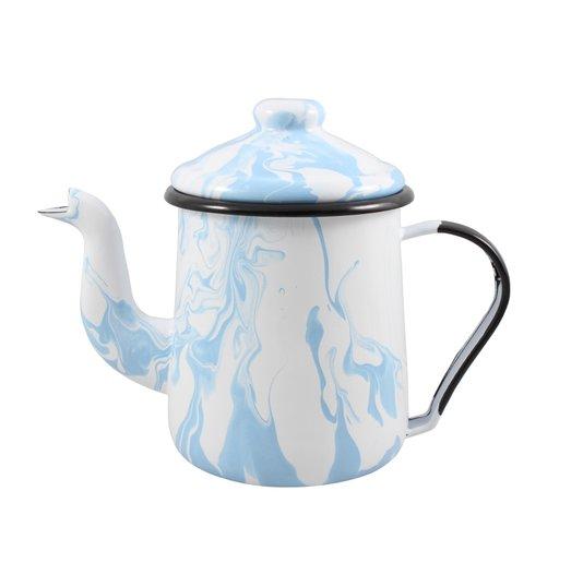 Cafeteira Esmaltada Tradicional - nº 12 - Azul Claro - 1100 ml (EWEL Coleção Marmorizada)