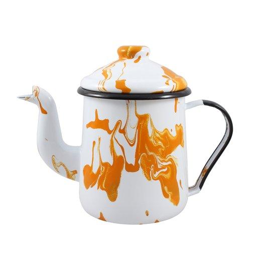 Cafeteira Esmaltada Tradicional - nº 12 - Laranja - 1100 ml (EWEL Coleção Marmorizada)