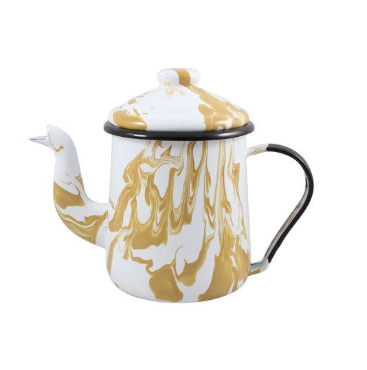 Cafeteira Esmaltada Tradicional - nº 12 - Marrom - 1100 ml (EWEL Coleção Marmorizada)