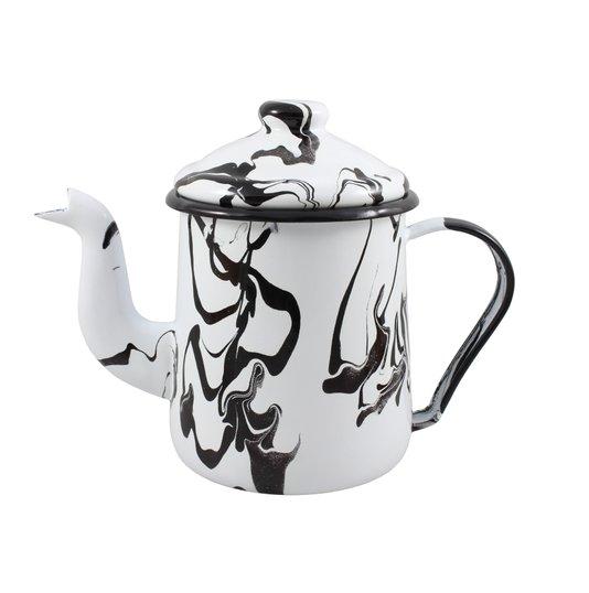 Cafeteira Esmaltada Tradicional - nº 12 - Preta - 1100 ml (EWEL Coleção Marmorizada)