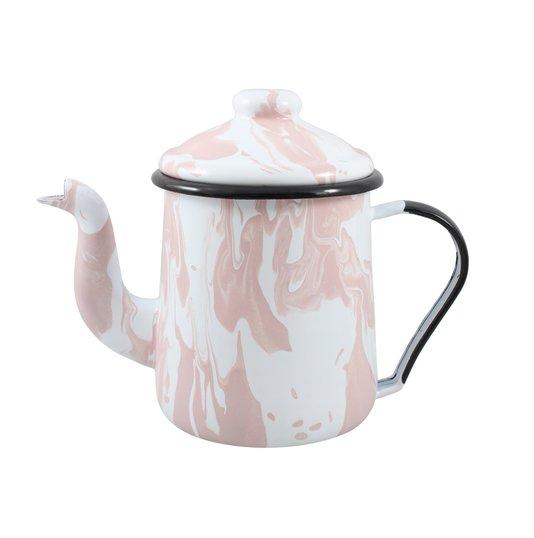 Cafeteira Esmaltada Tradicional - nº 12 - Rosa Clara - 1100 ml (EWEL Coleção Marmorizada)