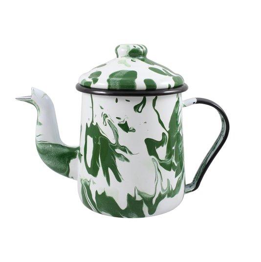 Cafeteira Esmaltada Tradicional - nº 12 - Verde - 1100 ml (EWEL Coleção Marmorizada)