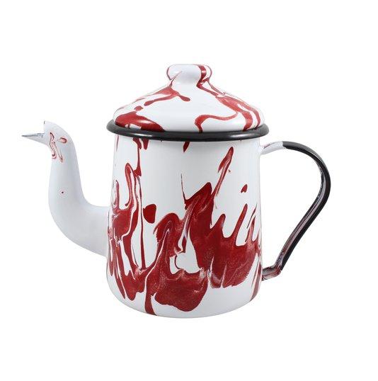 Cafeteira Esmaltada Tradicional - nº 12 - Vermelha - 1100 ml (EWEL Coleção Marmorizada)