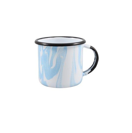 Caneca Esmaltada Azul Claro - EWEL Coleção Marmorizada
