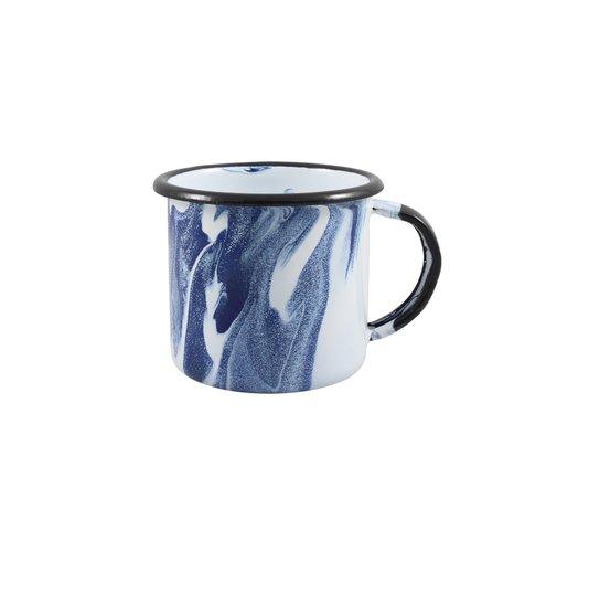 Caneca Esmaltada Azul - EWEL Coleção Marmorizada