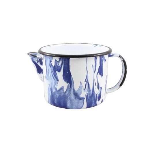 Caneca Esmaltada com Bico - nº 12 - Azul - 1000 ml (EWEL Coleção Marmorizada)