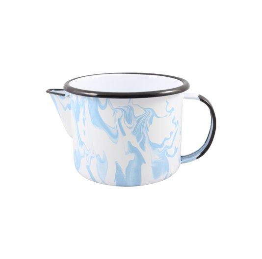 Caneca Esmaltada com Bico - nº 12 - Azul Claro - 1000 ml (EWEL Coleção Marmorizada)